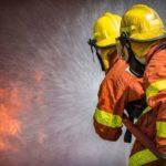 Почти 50 пожарных борются с возгоранием в цехе по обработке дерева в Курортном районе